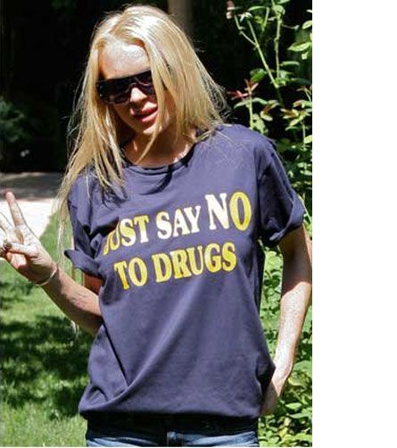 lindsay lohan drugs pictures. Lindsay Lohan Is A Walking