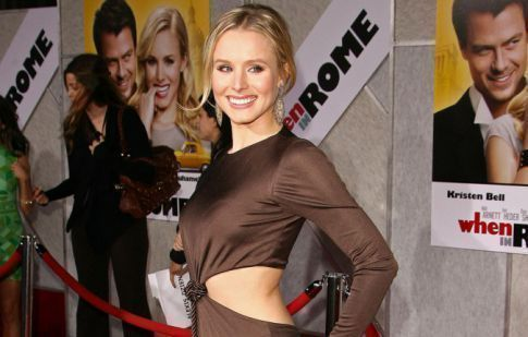 Kristen Bell's BaDunkADunk Ate Some Of Her Dress