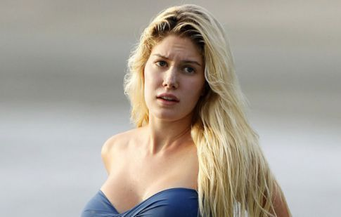 Heidi Montag Needs To Invest In Bigger Bikini Tops