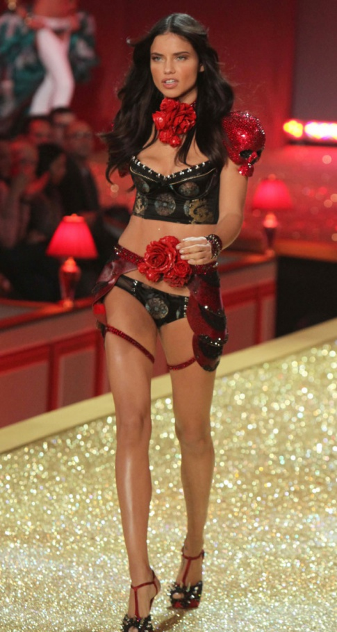 adriana lima runway see through