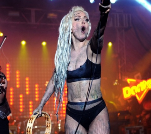 Lady GaGa gets vomited on, in the name of art!